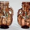 Pair of Auguste Jean glass vases