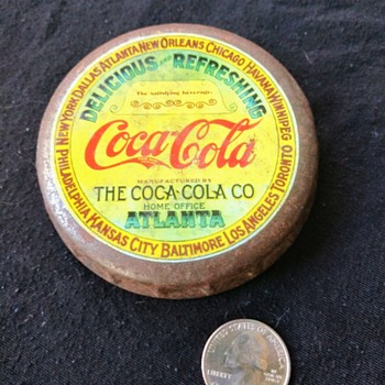 Large Crimped Coke Cap   - Coca-Cola