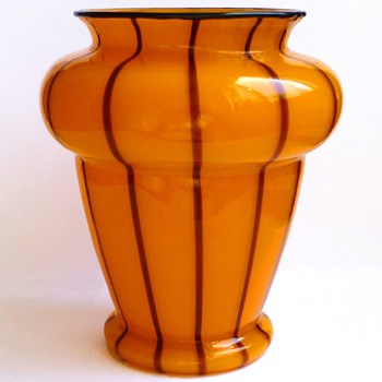 Loetz Ausführung 157 - Orange-Yellow and Black - Art Glass
