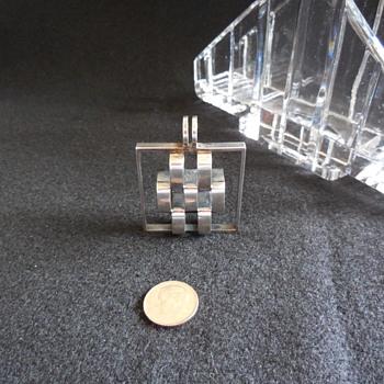 Elis Kauppi Modernist 925s Finland Pendant  - Silver