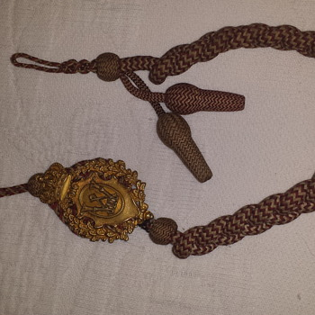 Prussian  Schützenabzeichnung (lanyard) awarded to a sharpshooter 7th class - Military and Wartime