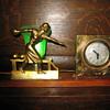 Art Deco Lady Bowler Clock/Lamp