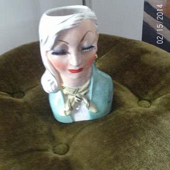 Lady Head Vase - Pottery