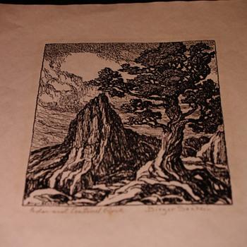 birger sandzen lithograph