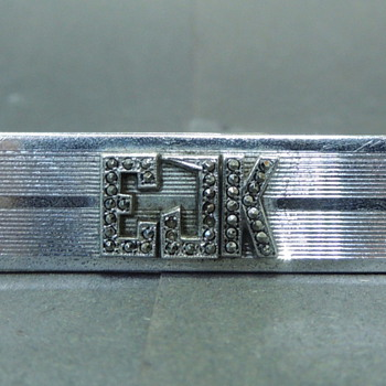 My Grandfather's Sterling Silver Tie Clip - EJK