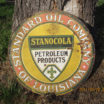 STANCOLA OIL SIGN - Petroliana