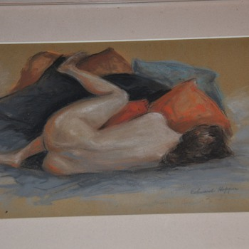 Nude Woman Painting Watercolor by Edward Hopper Real? - Fine Art