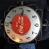 Early '50's Coca-Cola Electric Wall Clock - Silver