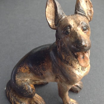Anri carved Alsatian  - Animals