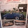 1940 Plymouth dealer ad 35 x 45 found under linoleum in older home remodel