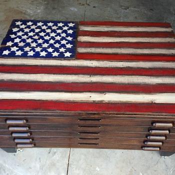 Hamilton Map Cabinet Restored - Furniture