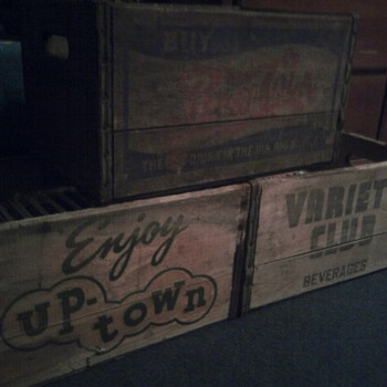 Various Wooden Soda Crates - Advertising