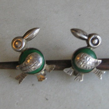 1940's/50's Mexico sterling bird clip earrings