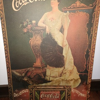 Lillian Nordica Coke sign - Coca-Cola