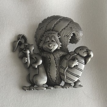 Jonette Jewelry Brooches — Elephants, Cat & Mice, Rabbit & Friends ... Whimsical - Costume Jewelry