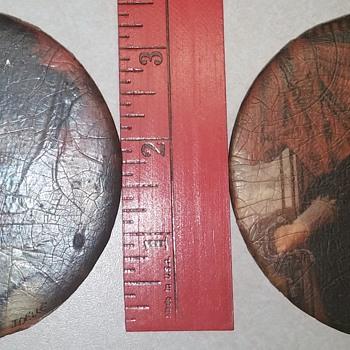 Set of 2 Decoupage Discs - Fine Art