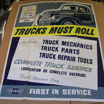 1944/45 Chevy Truck poster - Classic Cars