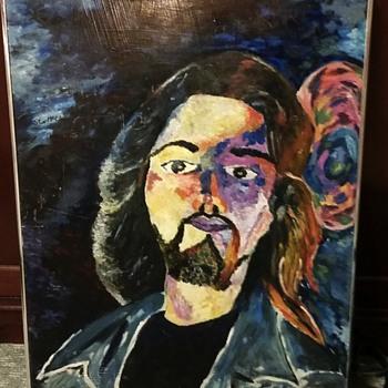 thrift store oil painting - Fine Art