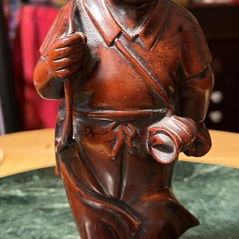 Southeast Asian Carved Wooden Boy - Asian
