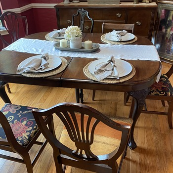 Ball and Claw Mahogany Dining Table  - Furniture