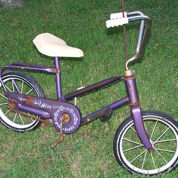 childs pedal-brake bike.