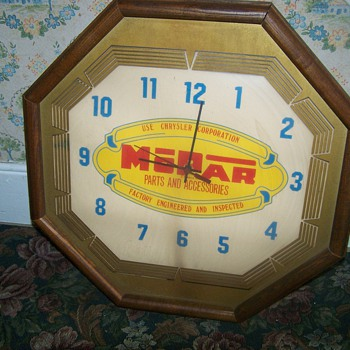 Vintage Mopar Clock - Advertising