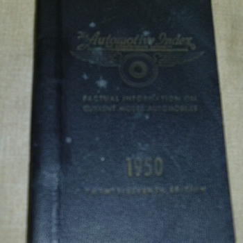 1950 Auto Salesman Book - Books