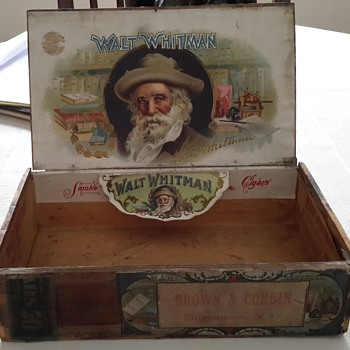 walt whitman cigar advertising  - Tobacciana