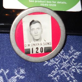 D.W. Onan & Sons employee identification badge - Photographs