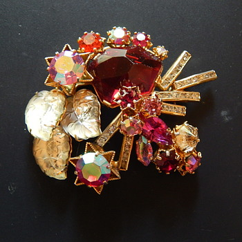 Rhinestone Brooch  latest find - Costume Jewelry