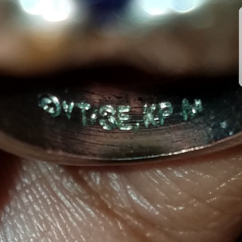 Mystery Hallmark and beautiful ring - Fine Jewelry