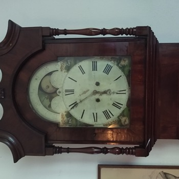 English tall clock by Walker & Huges - Clocks