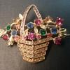 Ledo by Polcini basket brooch