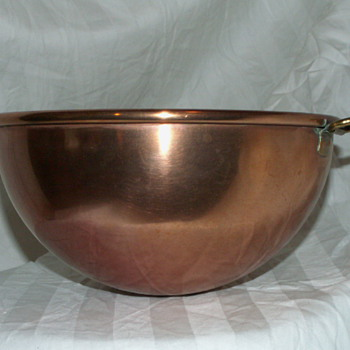 Heavy Gauge Copper Mixing Bowl - Kitchen