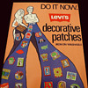 Early 1970s LEVIS in-store advertising poster for Decorative Patches.