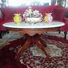 Victorian Eastlake Marble Top Table / Unknown Maker & Age