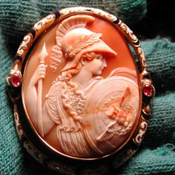 The best enamelled Athena with snake border cameo