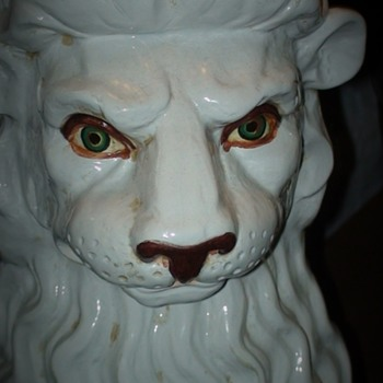Vintage Ceramic Guard Lion Made In Italy - Animals