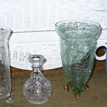 Crackle Glass Heisey or Princess House - Glassware