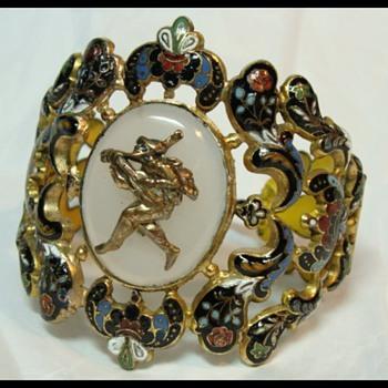 Antique Enamel Bracelet