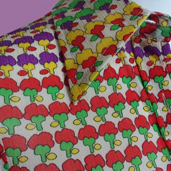 1970s Wayne Rogers Brilliant Flower Riot Printed Blouse - Womens Clothing