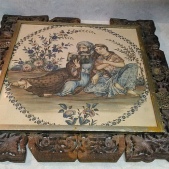 ANTIQUE MIDDLE EASTERN PAINTING ON CLOTH - Fine Art