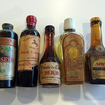 My Grandfather's Collection of Sealed Liquor bottles - Bottles