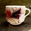 Porcelain Lusterware Raised-Relief Victorian Style Tea Cup/Shaving Mug