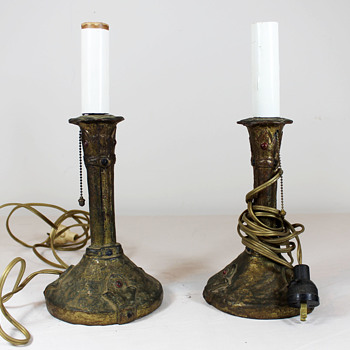 Looking for info on these Art Nouveau(?) table lamps