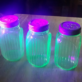 Three Glowing Jars - Glassware