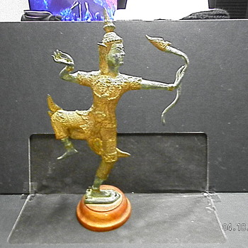 My Bronze Gilded Sculpture of the Hindu God Rama