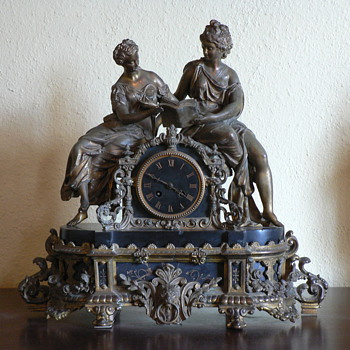Antique French Mantel Clock - Clocks