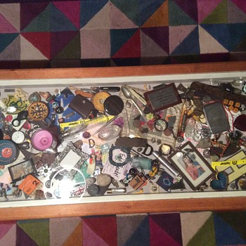 Coffee Table 'rubble drawer' - Medals Pins and Badges
