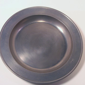 Old Pewter Plate with Hallmark - Kitchen